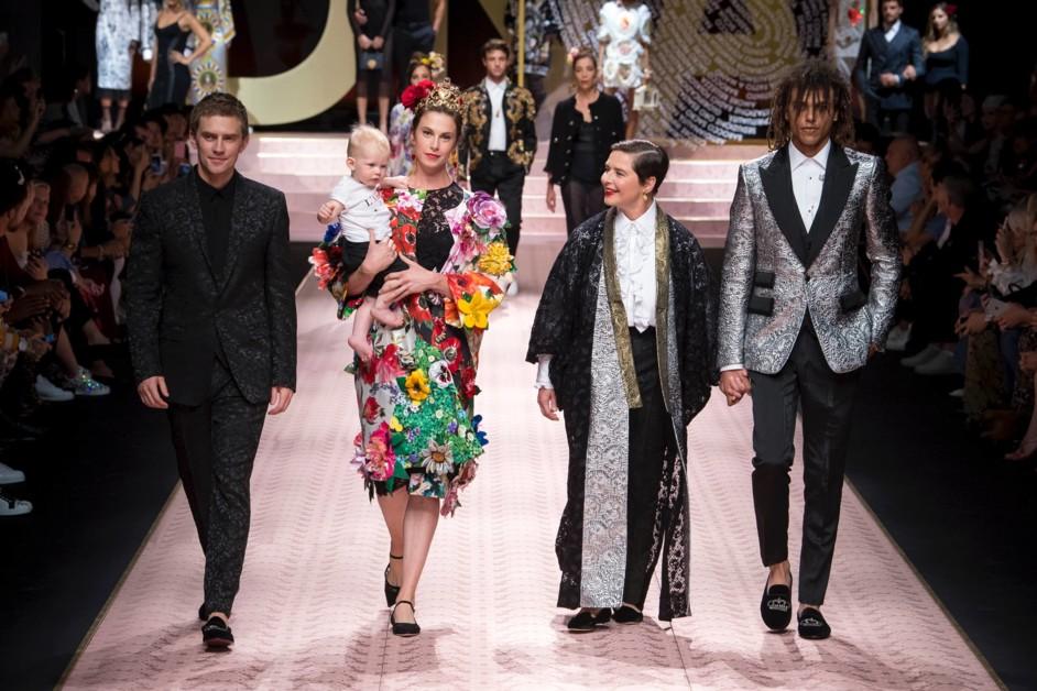 Все включено: инклюзивные бьюти-образы на шоу Dolce&Gabbana