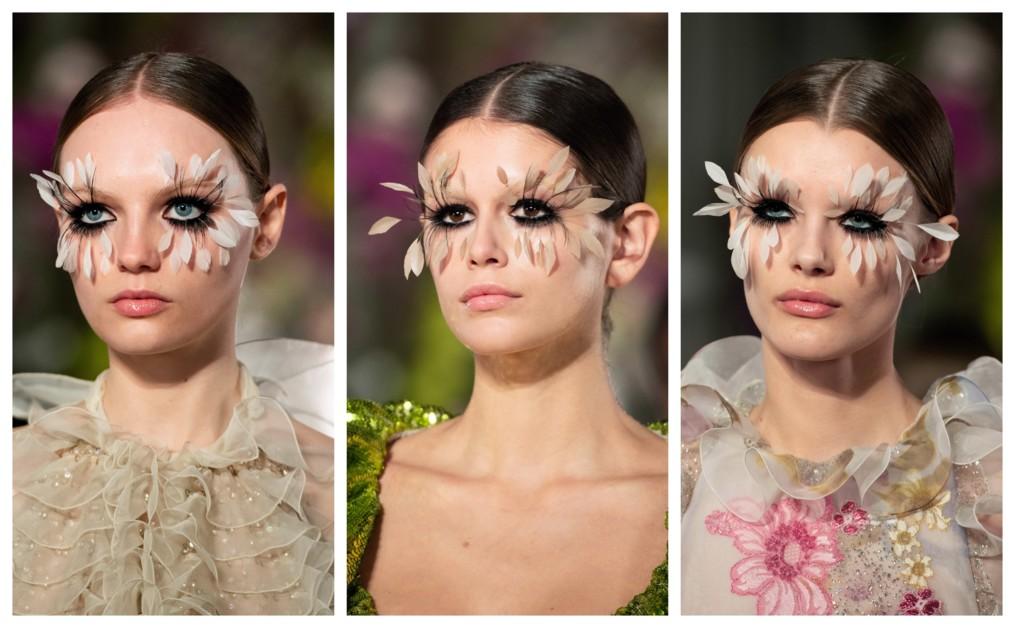Макияж на показе Valentino Couture весна-лето 2019