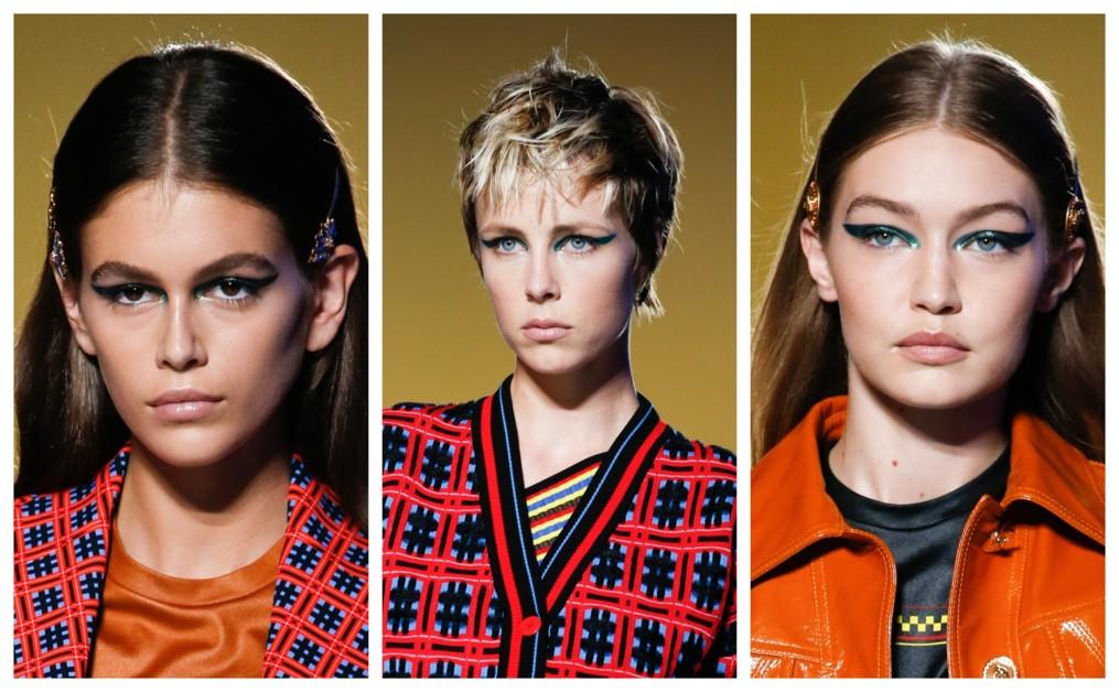 Шик, блеск: бьюти-образы с показа Versace