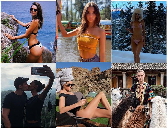 Где модели проводят новогодние каникулы