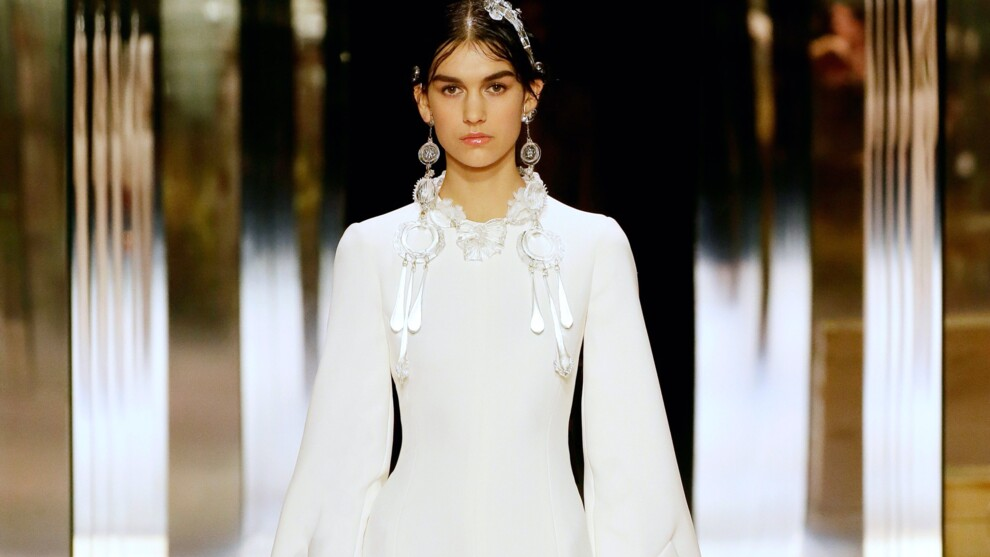 Лучшие свадебные платья на Неделе высокой моды