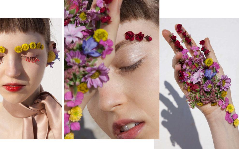 Цветочное вдохновение: бьюти-съемка Vogue UA