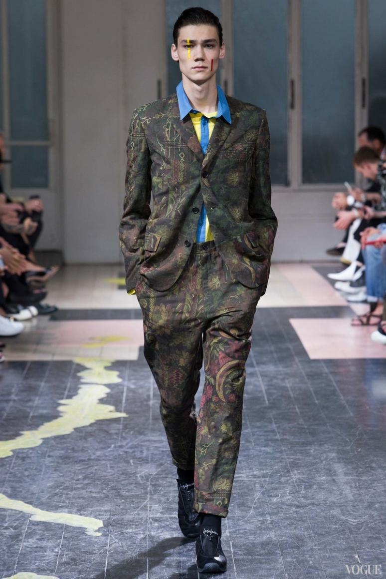 Yohji Yamamoto Menswear весна-лето 2016 #16
