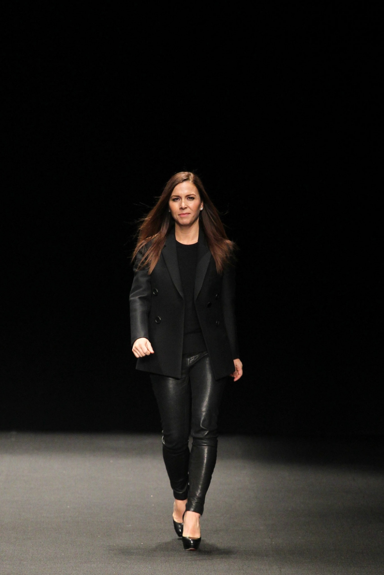 Monique Lhuillier осень-зима 2015/2016 #1