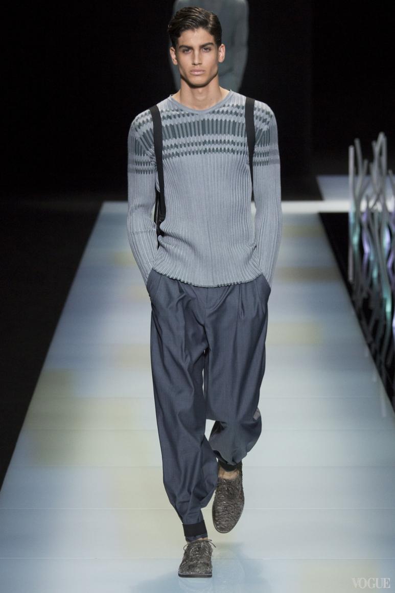 Giorgio Armani Menswear весна-лето 2016 #45