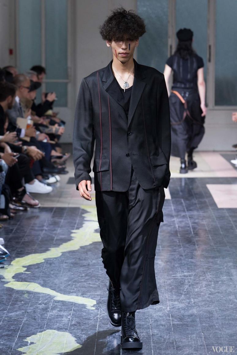 Yohji Yamamoto Menswear весна-лето 2016 #35