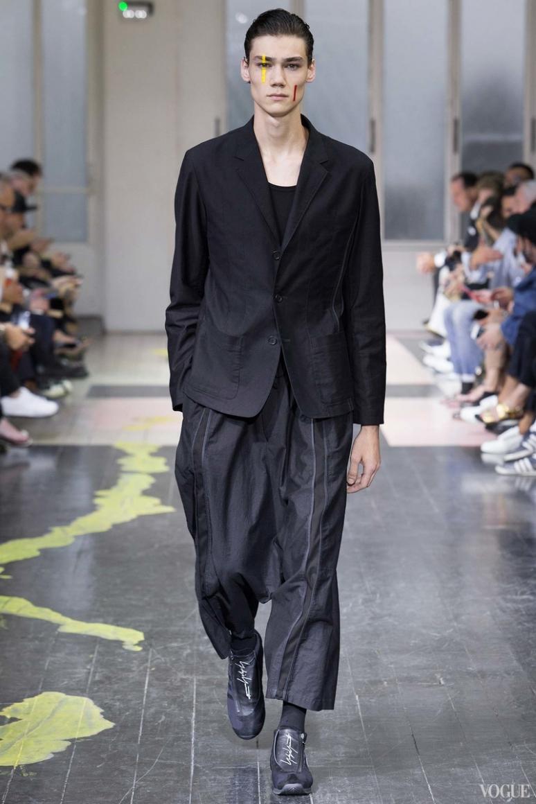 Yohji Yamamoto Menswear весна-лето 2016 #39