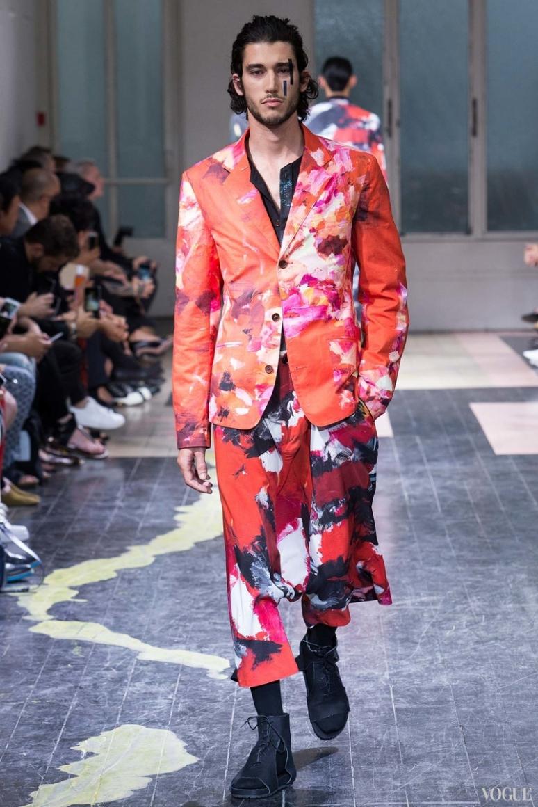 Yohji Yamamoto Menswear весна-лето 2016 #31
