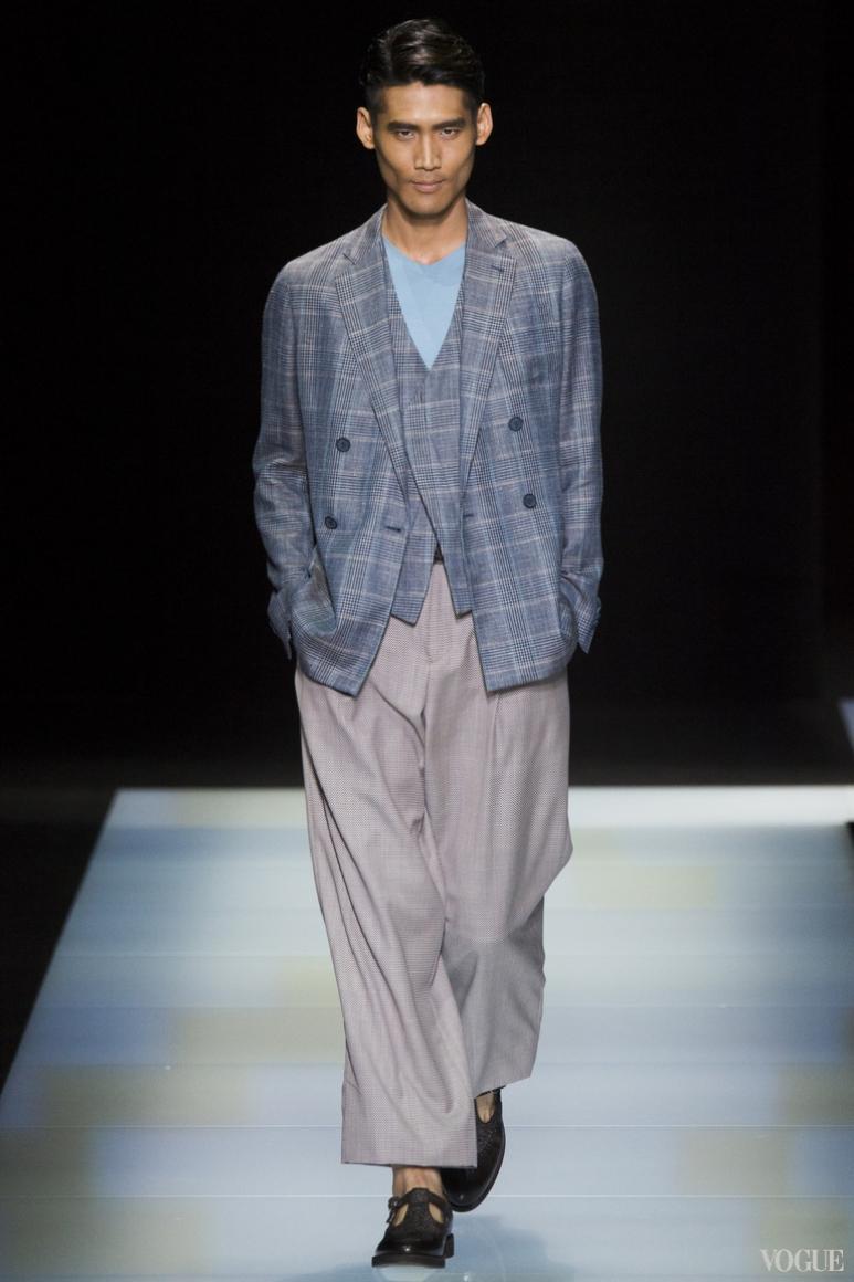 Giorgio Armani Menswear весна-лето 2016 #71