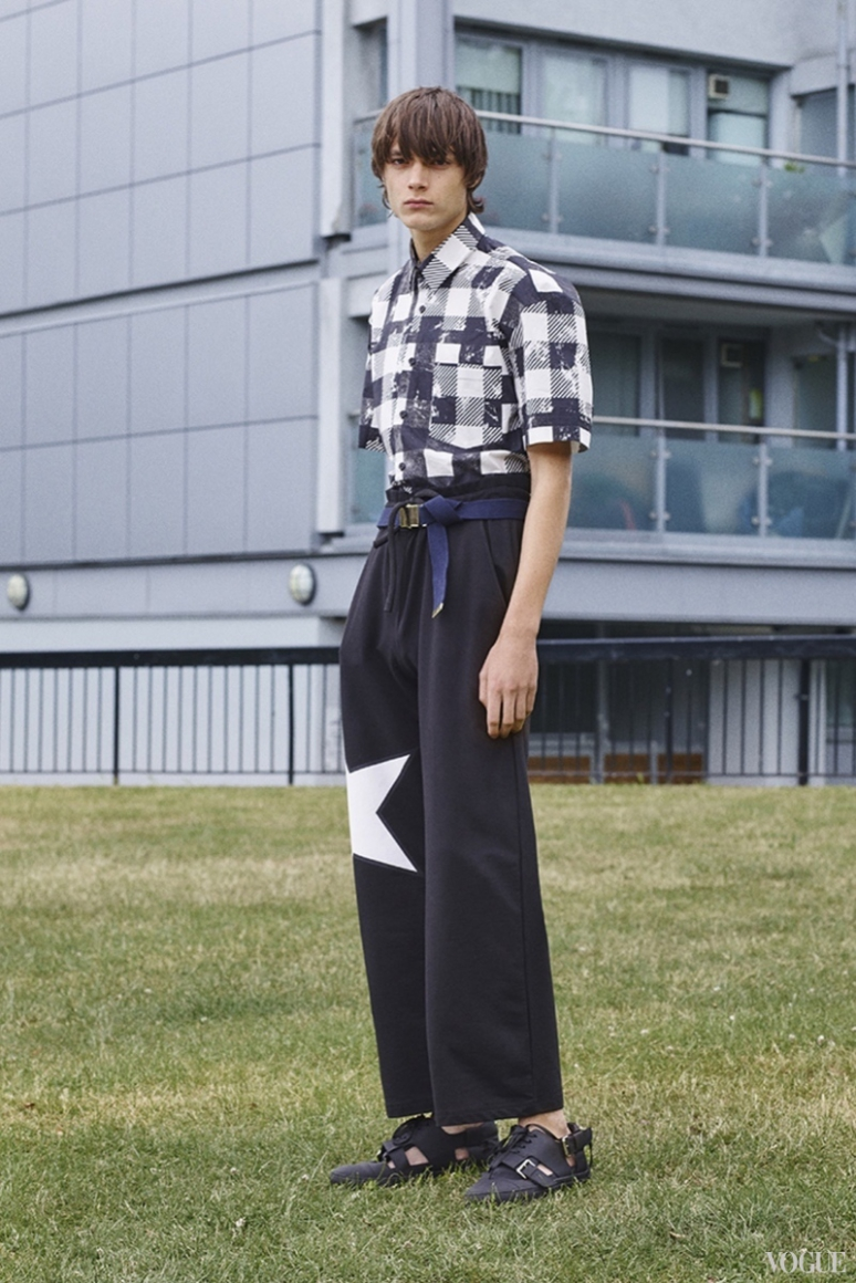 John Galliano Menswear весна-лето 2016 #25