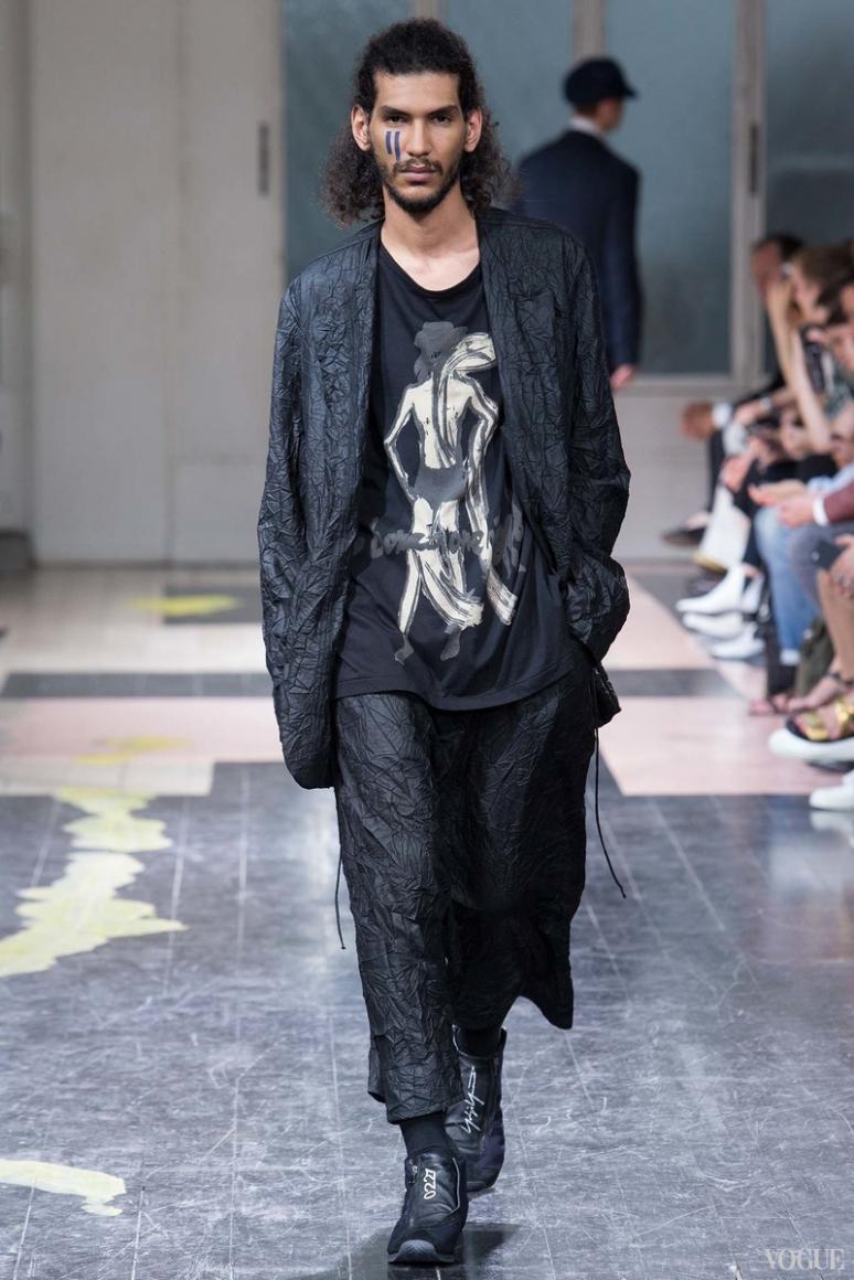 Yohji Yamamoto Menswear весна-лето 2016 #10