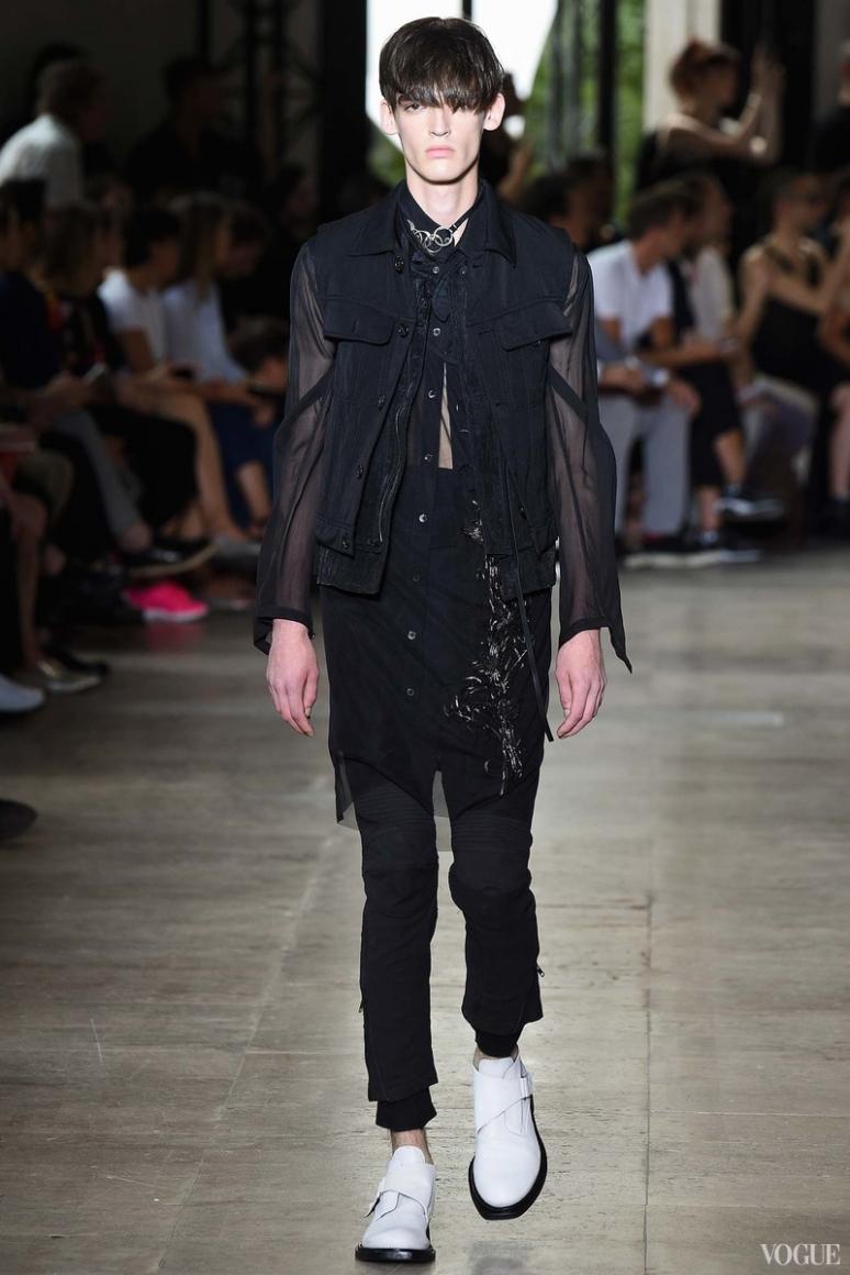 Ann Demeulemeester Menswear весна-лето 2016 #4