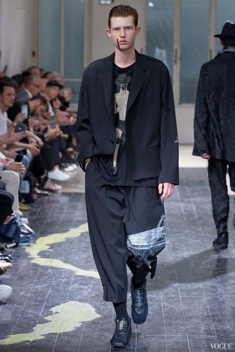 Yohji Yamamoto Menswear весна-лето 2016 #8
