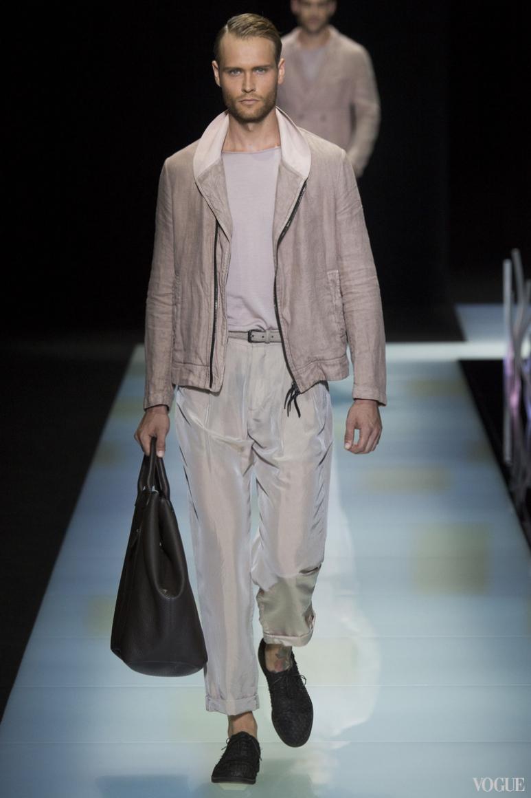 Giorgio Armani Menswear весна-лето 2016 #54