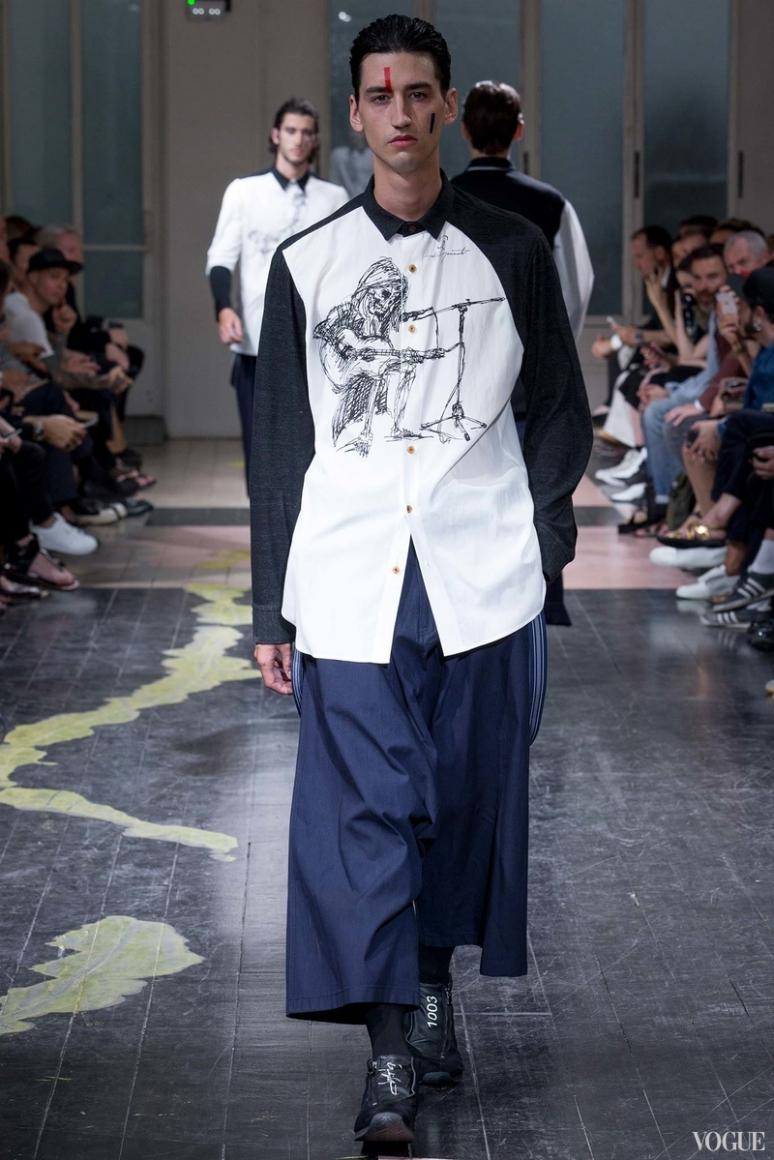 Yohji Yamamoto Menswear весна-лето 2016 #3