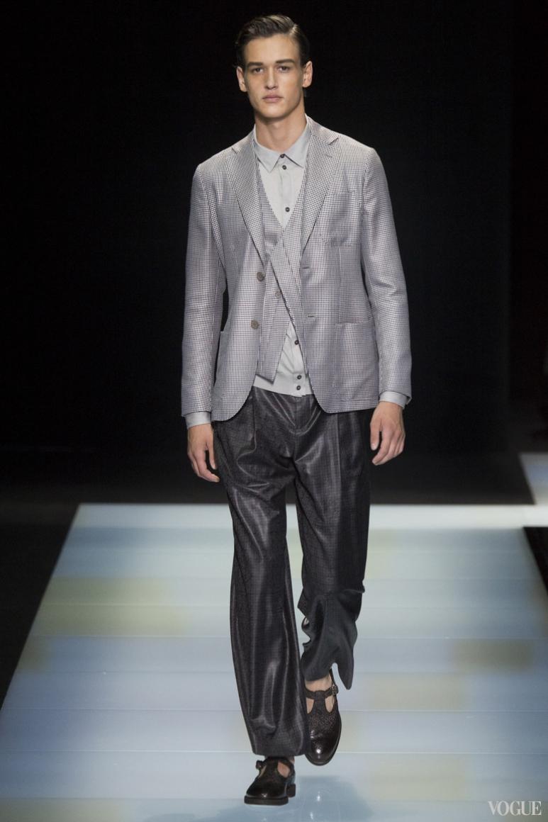 Giorgio Armani Menswear весна-лето 2016 #65