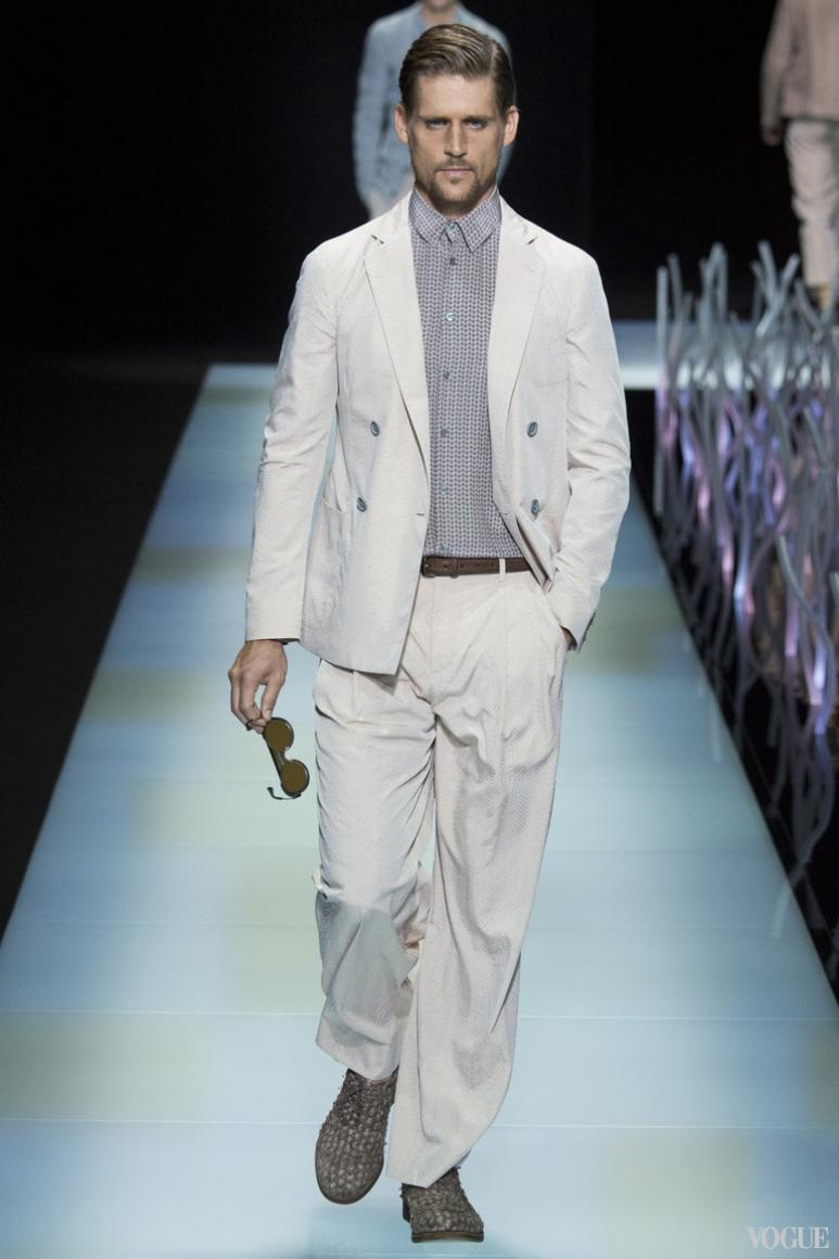 Giorgio Armani Menswear весна-лето 2016 #51