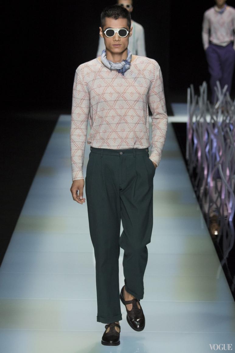 Giorgio Armani Menswear весна-лето 2016 #61