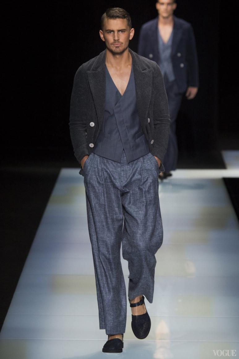 Giorgio Armani Menswear весна-лето 2016 #75