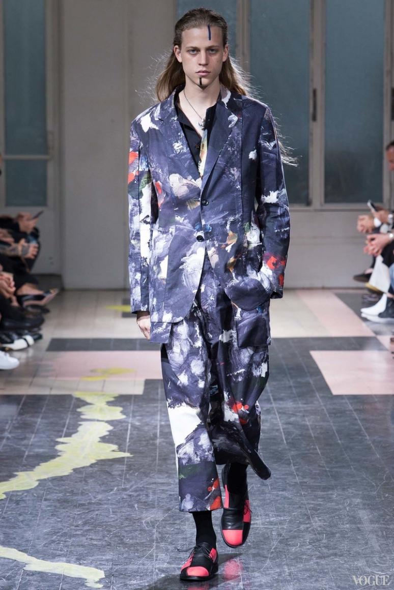 Yohji Yamamoto Menswear весна-лето 2016 #28