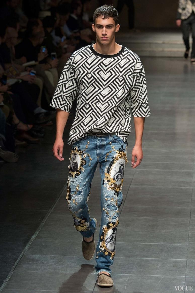 Dolce & Gabbana Menswear весна-лето 2016 #65