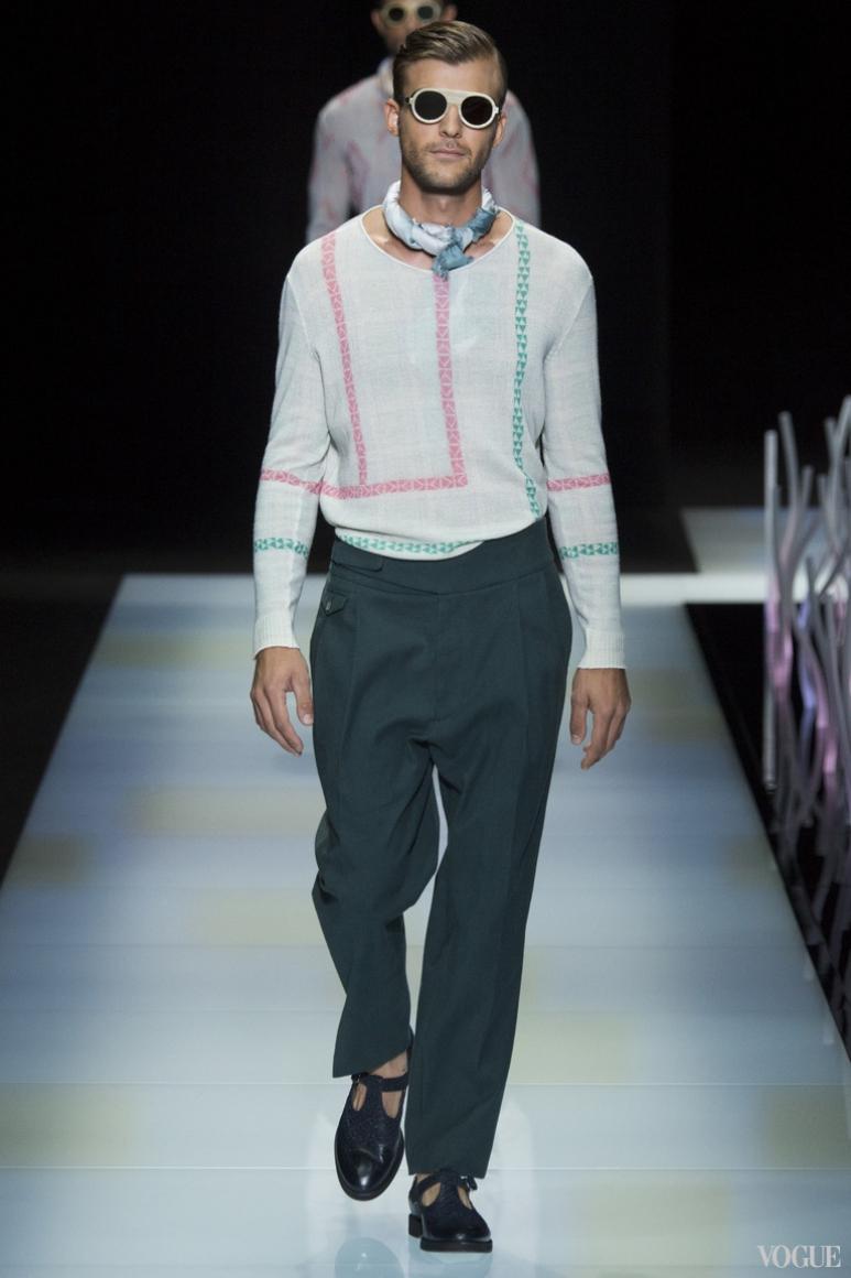 Giorgio Armani Menswear весна-лето 2016 #60