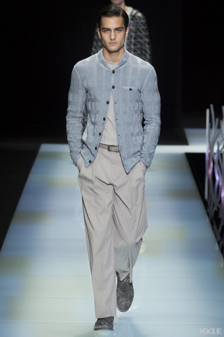 Giorgio Armani Menswear весна-лето 2016 #50
