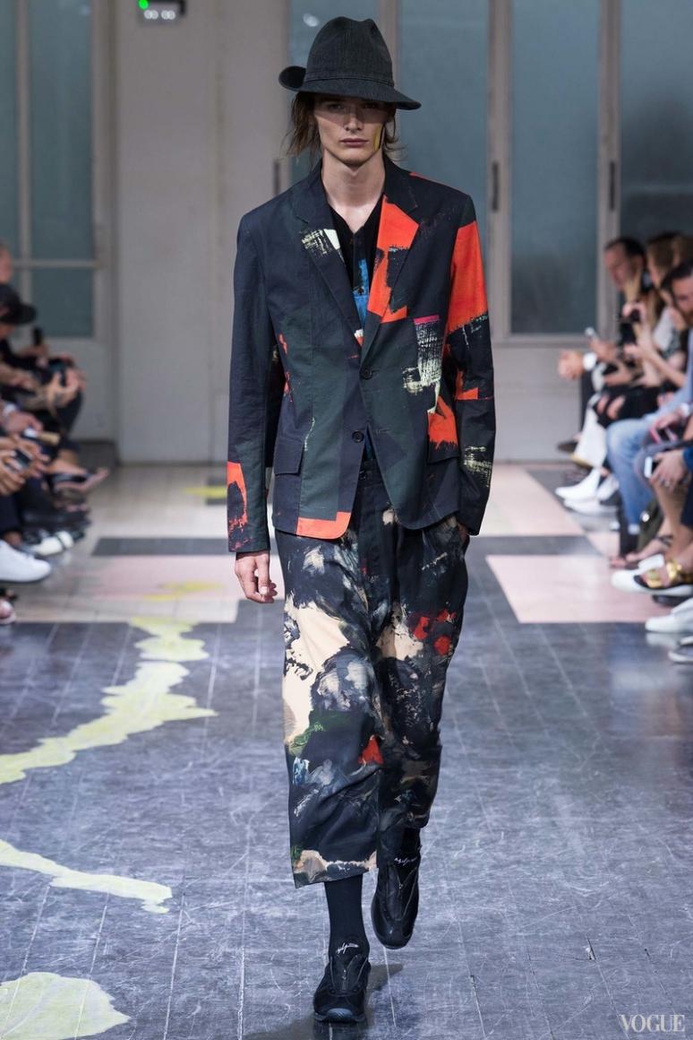 Yohji Yamamoto Menswear весна-лето 2016 #33