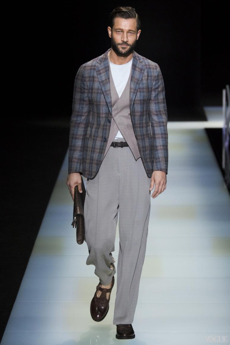 Giorgio Armani Menswear весна-лето 2016 #72