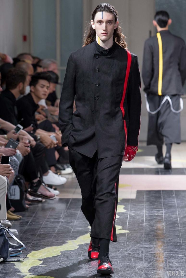 Yohji Yamamoto Menswear весна-лето 2016 #13