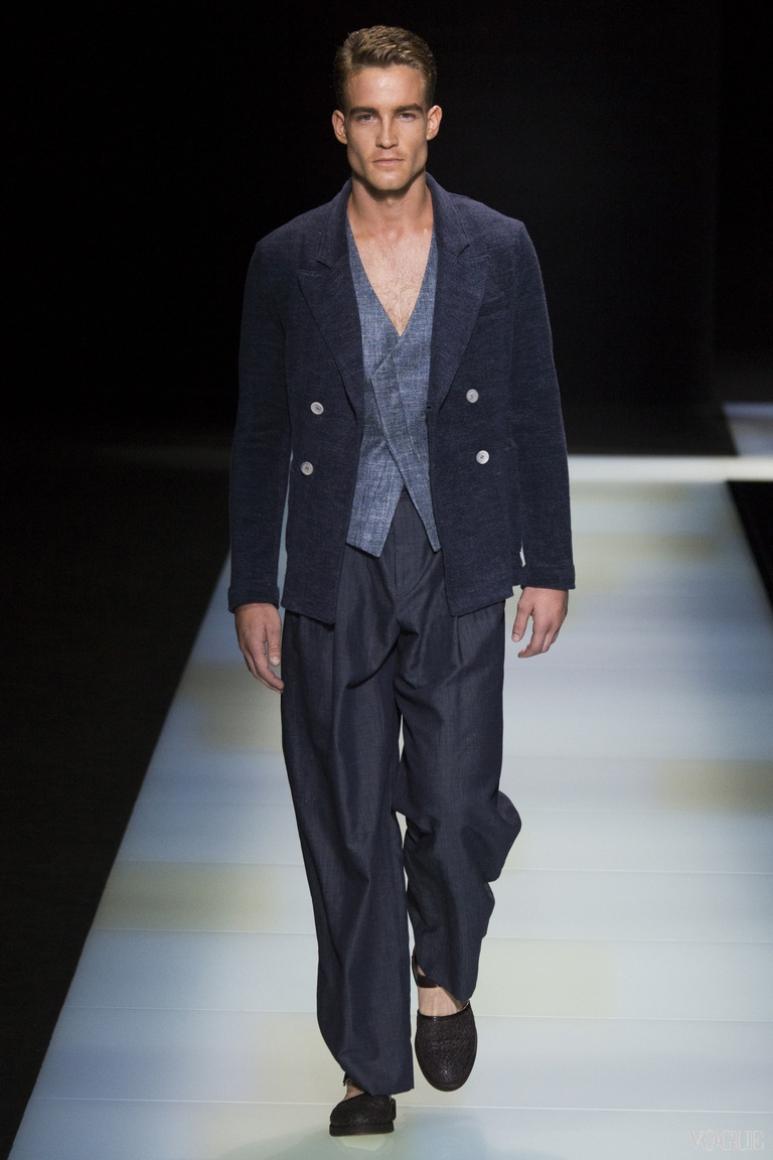 Giorgio Armani Menswear весна-лето 2016 #74
