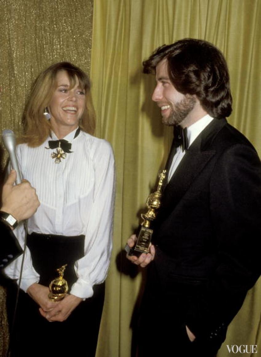 Джейн Фонда и Джон Траволта (1977)