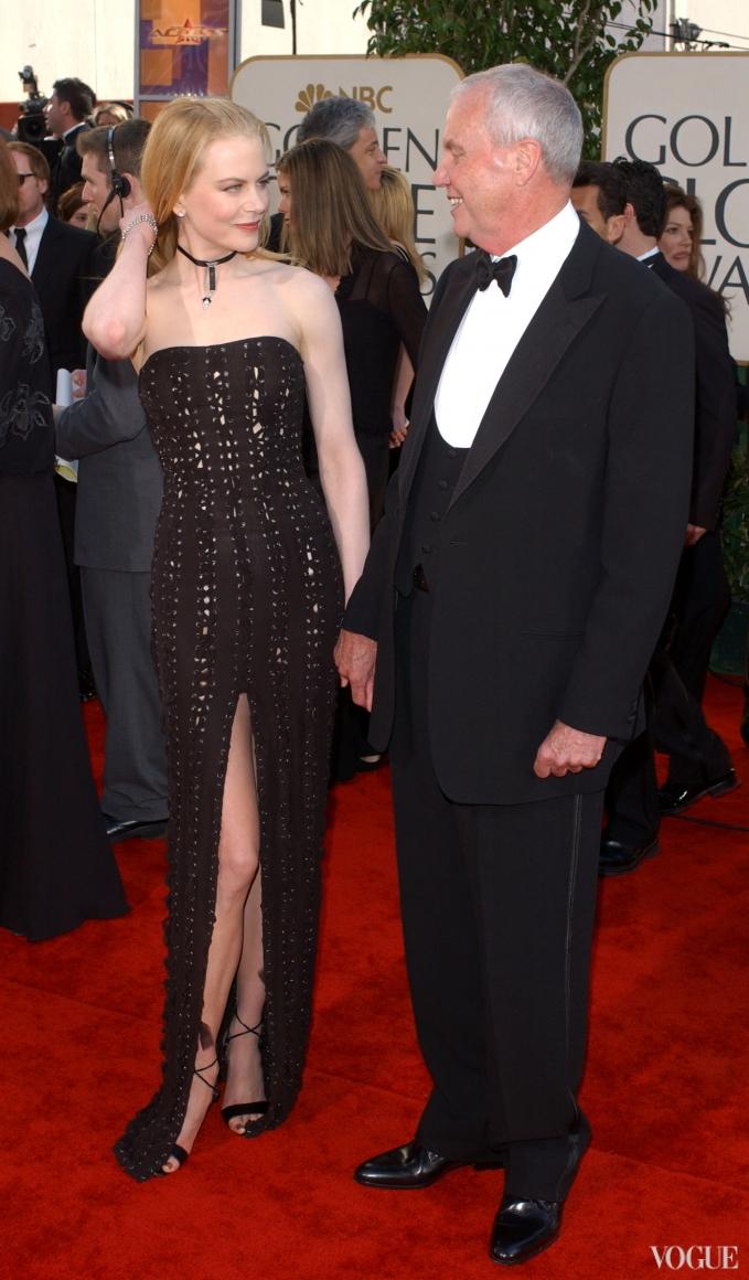 Николь Кидман с отцом (2002)