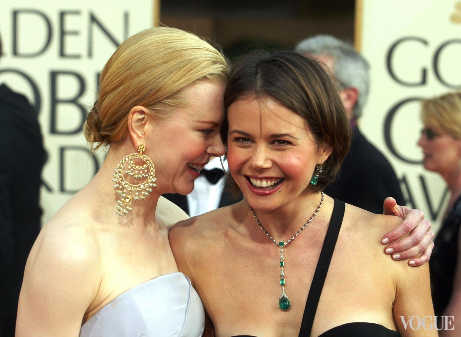 Николь Кидман с сестрой (2003)