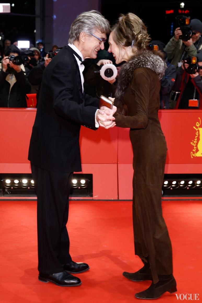 Вим Вендерс с женой Донатой