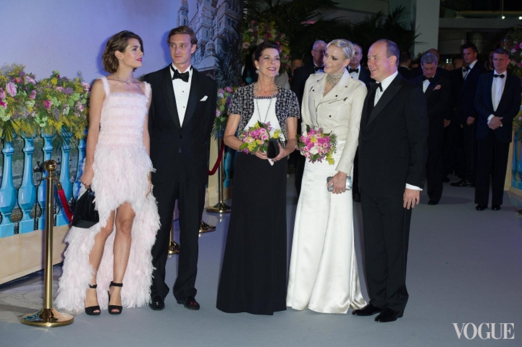 Шарлотта и Пьер Казираги, Принцесса Каролина Ганноверская, Шарлин Уиттсток, Принц Альберт