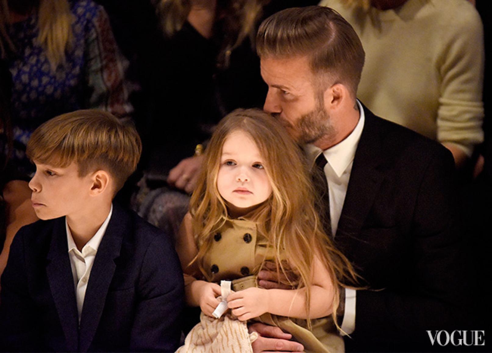 Дэвид Бекхэм с детьми