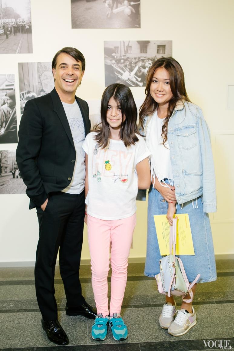 Валид Арфуш с дочерью Лизой и Лида Петрова