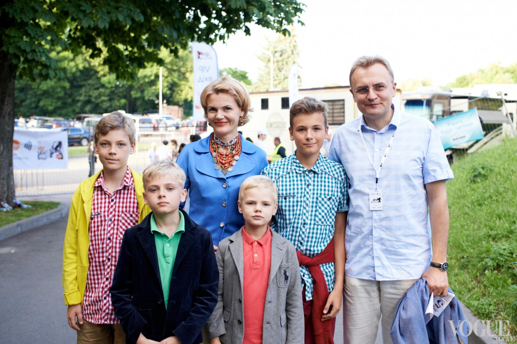 Андрей Садовый с семьей