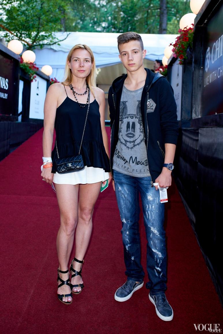 Юлия Вунтесмери с сыном Алексеем