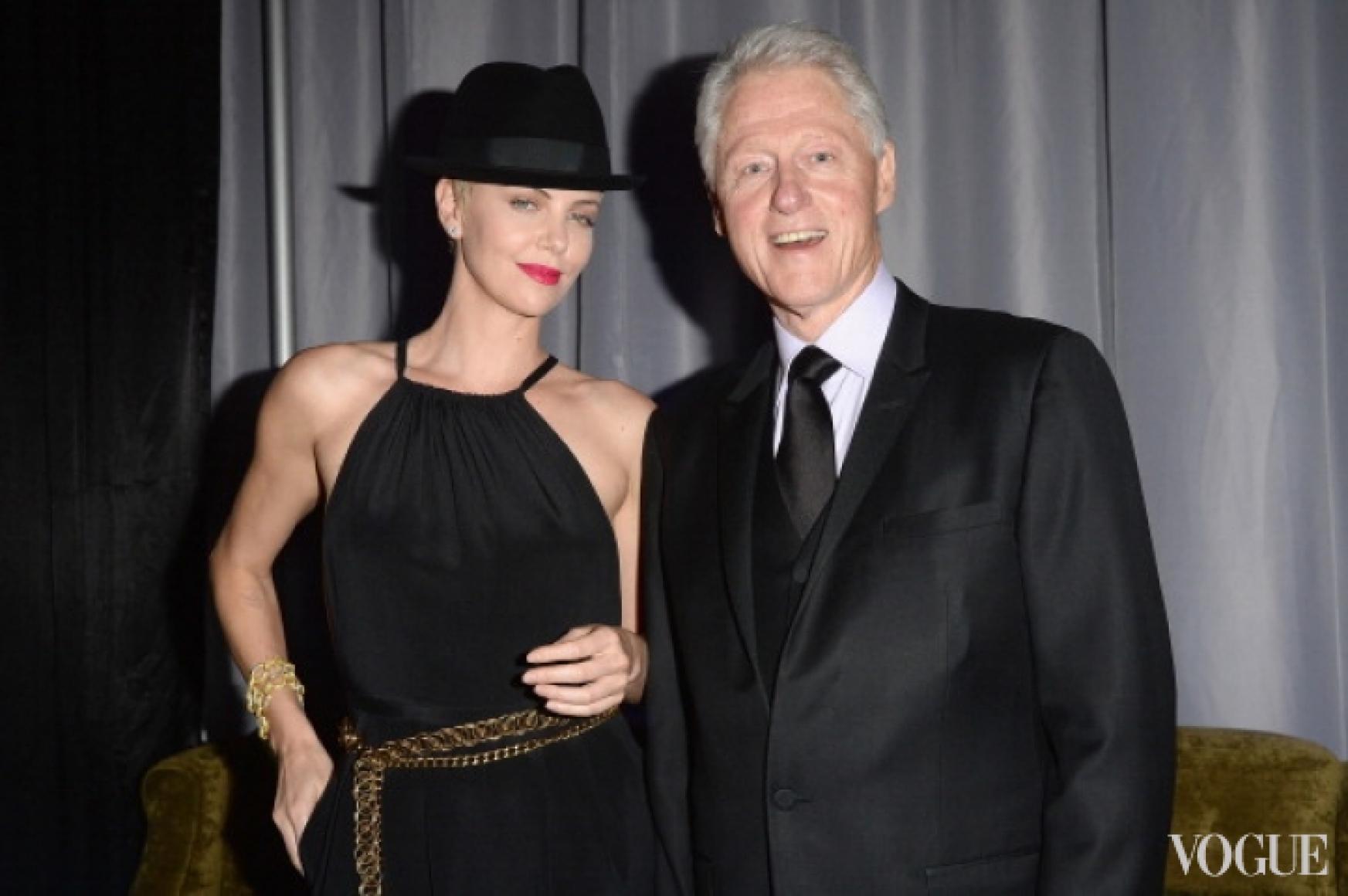 Шарлиз Терон и Билл Клинтон