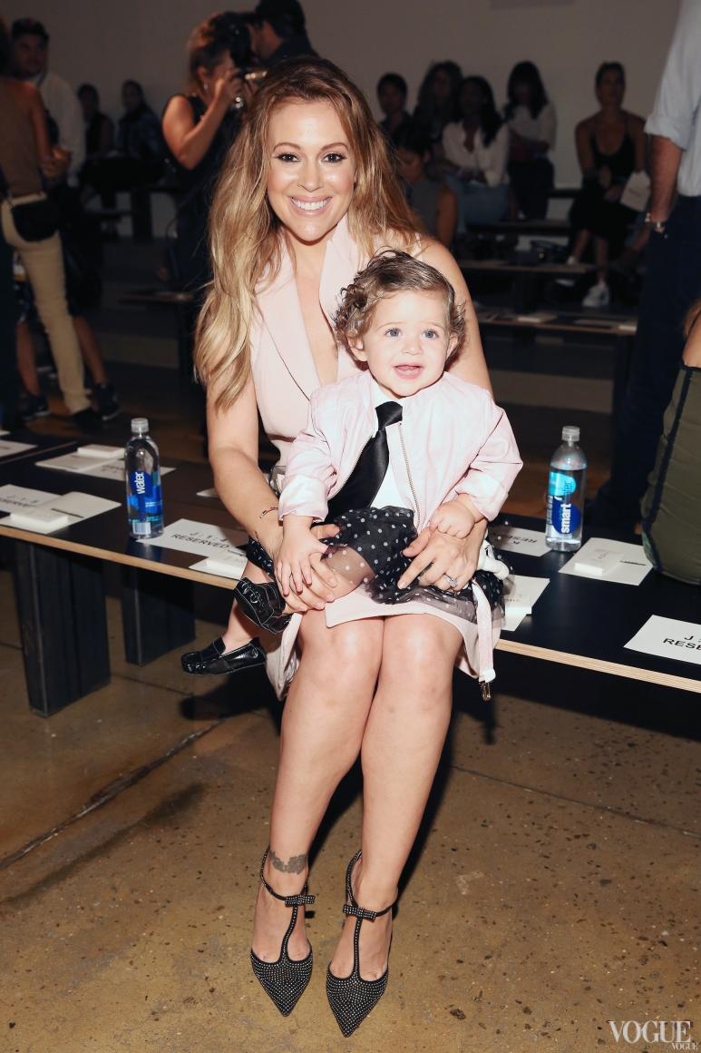 Алисса Милано с дочерью Элизабелла