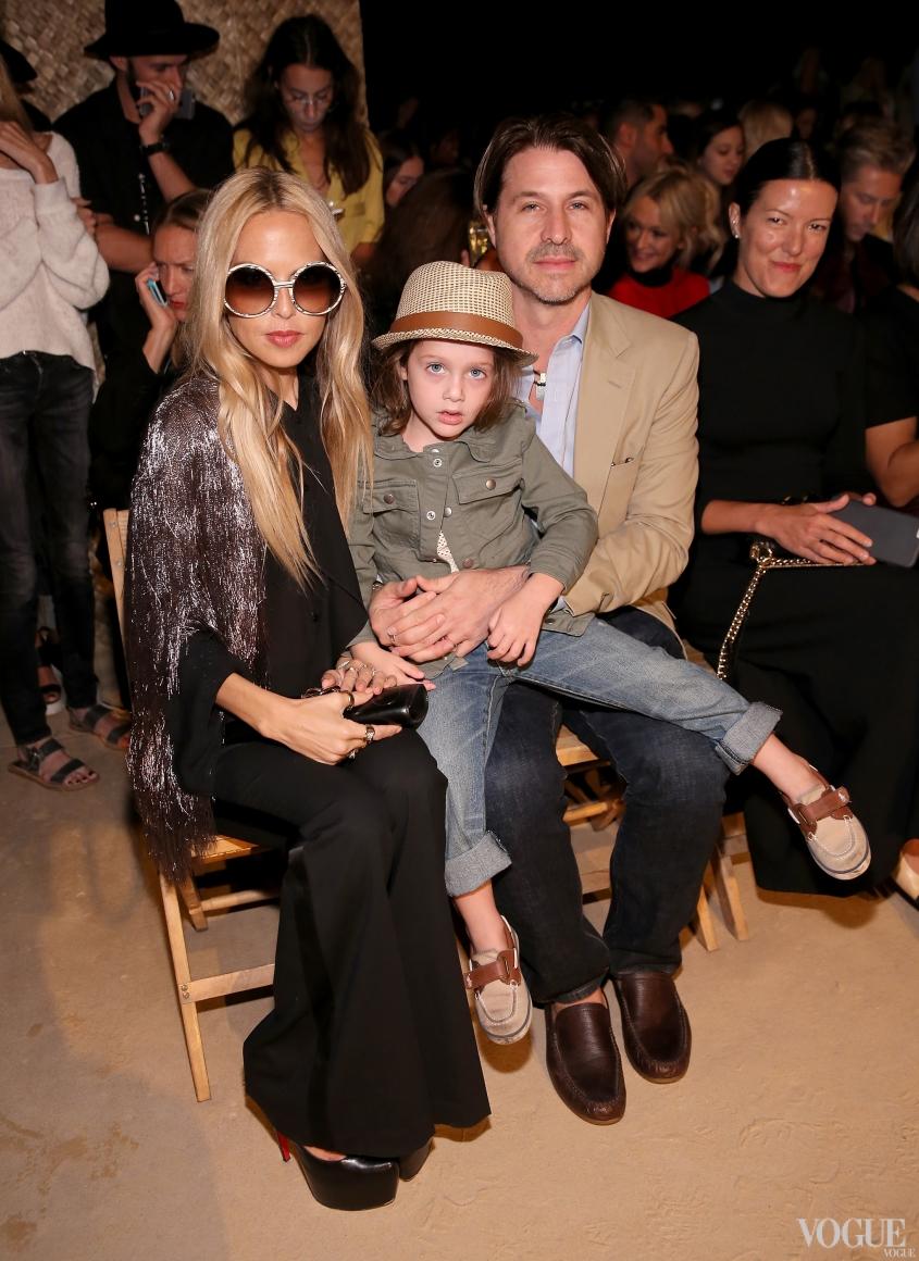 Рэйчел Зоуи с мужем Роджером Берманом и сыном Скайлером