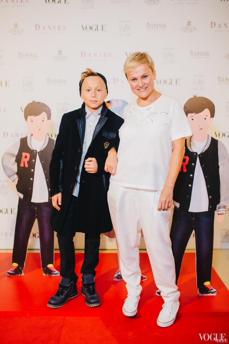 Наталья Радовинская с сыном Семеном