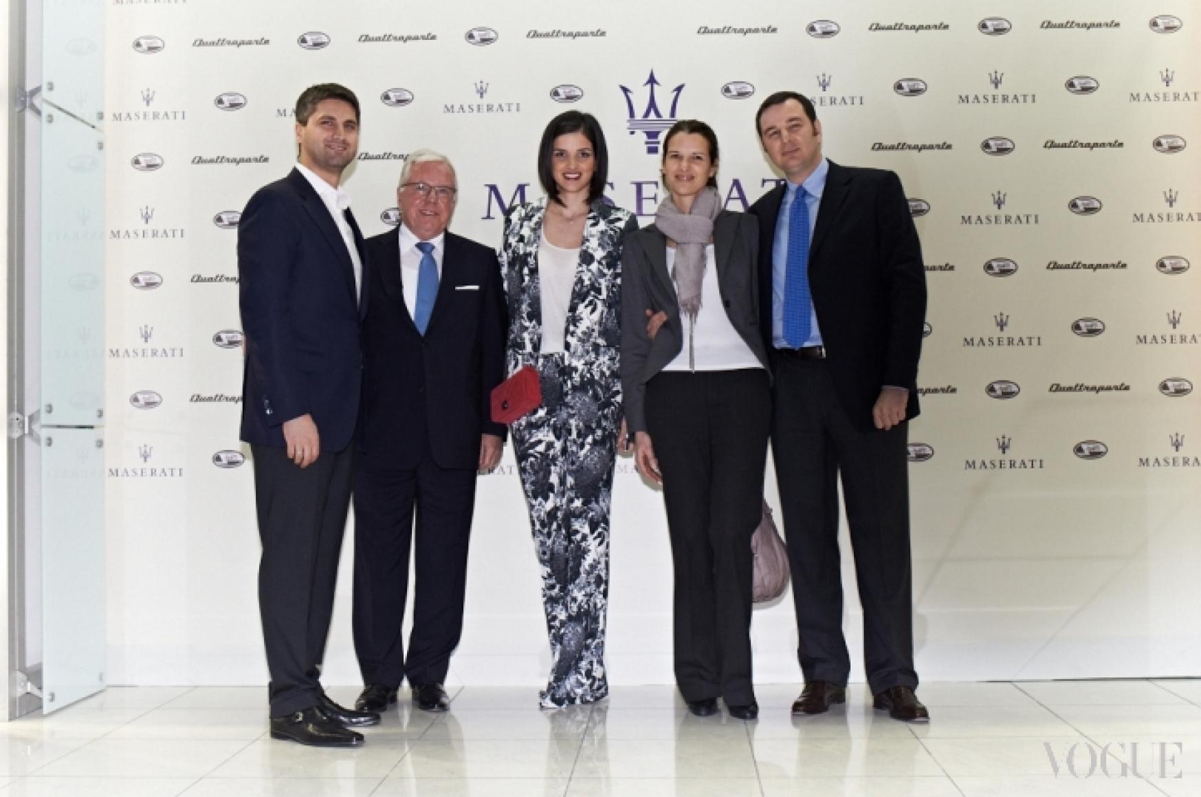 Вахтанг Васадзе, Хериберт Мюллер, Тико Габричидзе и Луиджи Мария Сепе со спутницей