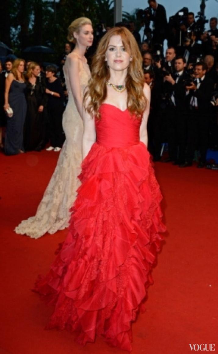 Исла Фишер в платье Oscar de la Renta и украшениях Bulgari