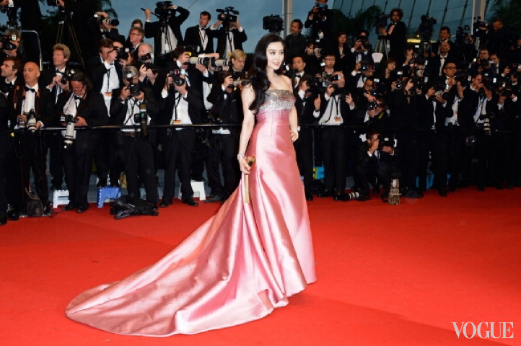Фан Бинг Бинг в платье Louis Vuitton и украшениях Chopard
