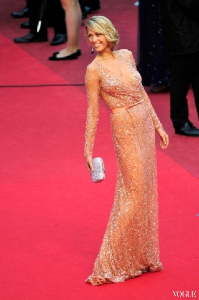 Петра Немцова в платье Elie Saab Couture
