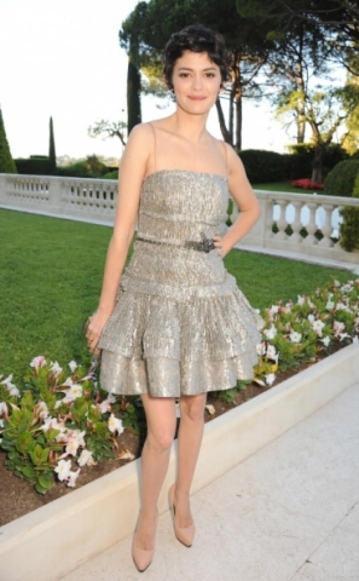 Одри Тоту в платье Lanvin
