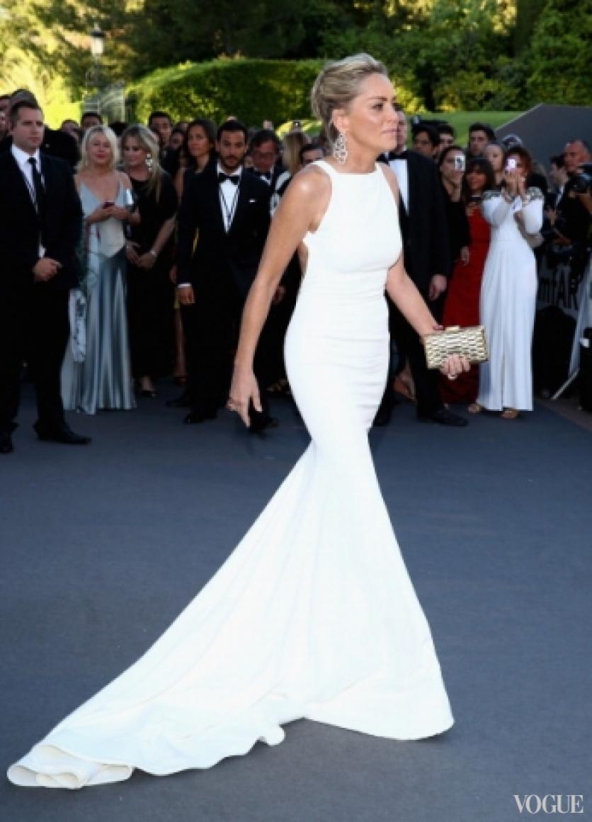 Шарон Стоун в платье Roberto Cavalli